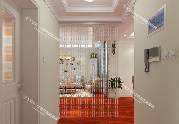 家装客厅隔断效果图:玻璃推拉门隔断