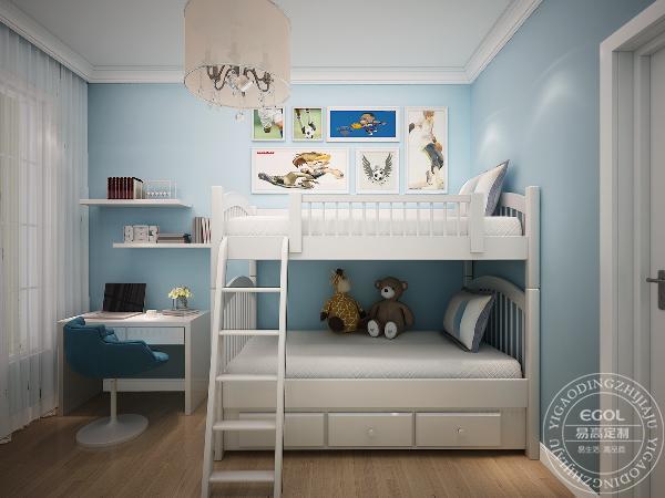 夫妻将家里的儿童房都好好设计了一番,许多业主将原有的床换成高低床