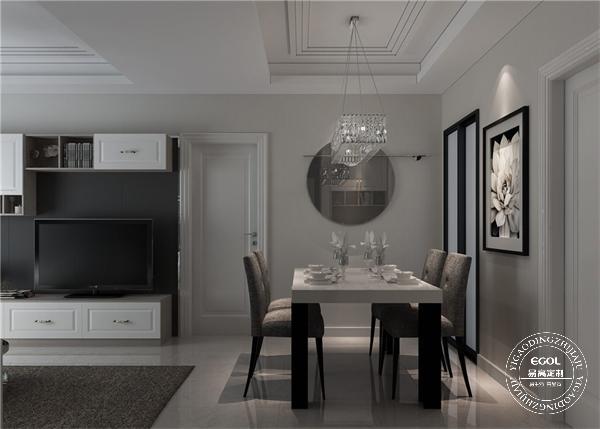 现代简约风格装修图片|简约两室一厅定制家具效果图