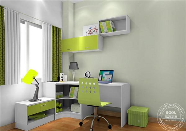 儿童房定制书柜怎么装?